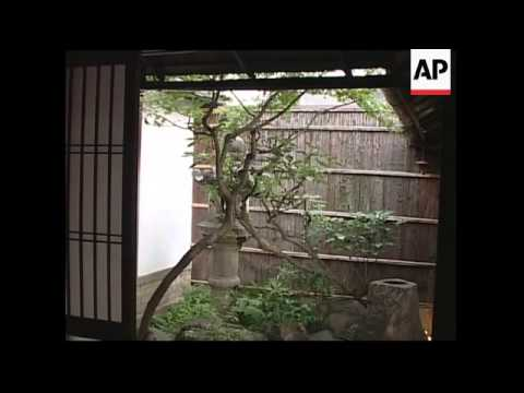 Traditional housing replaced by apartment buildings in Kyoto, Japan
