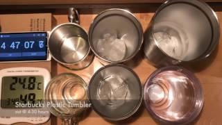 YETI vs Starbucks Tumbler - Ice Test Time Lapse