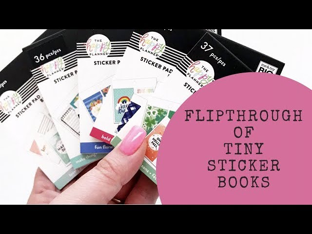 the-happy-planner-tiny-sticker-book-flip-throughs