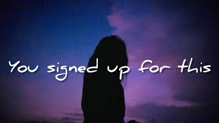 Maisie Peters - You Signed Up For This (Lyrics/Letra)