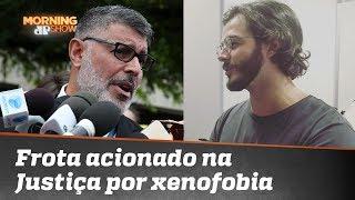 Namorado de Fátima Bernardes, Túlio Gadelha aciona Alexandre Frota na Justiça por xenofobia