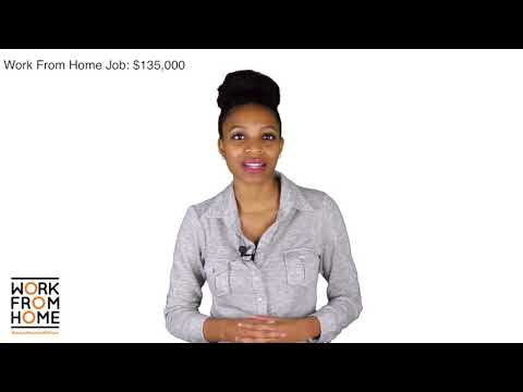Featured Work From Home Job: $135,000/yr. plus benefits