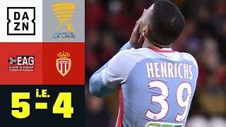 Benjamin Henrichs verschießt! EA Guingamp - AS Monaco 5:4 i.E.   Coupe de la Ligue   DAZN Highlights