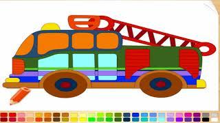 Как окрашивать автомобили видео для детей Обучающие краски Автомобили