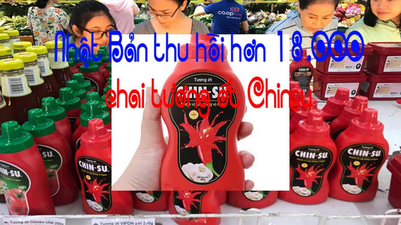 Nhật Bản thu hồi hơn 18 000 chai tương ớt Chinsu