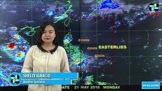 Public Weather Forecast Issued at 4:00 PM May 21, 2018.