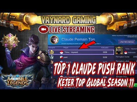 🔴[LIVE] TOP 1 CLAUDE PUSH RANK SOLO LAGI! NASIB JOMBLO!! - MOBILE LEGENDS