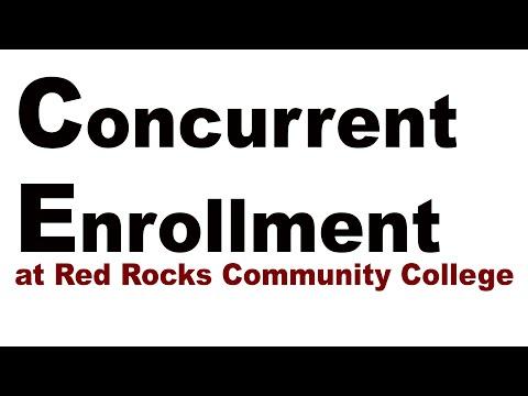 Concurrent Enrollment at Red Rocks Community College