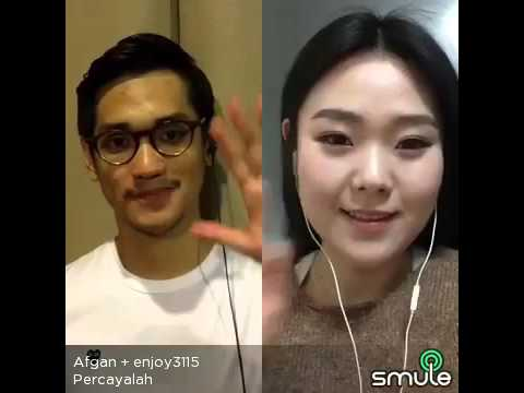 Percayalah by Korean girl ❤️ What a lovely song and nice Afgan❤️