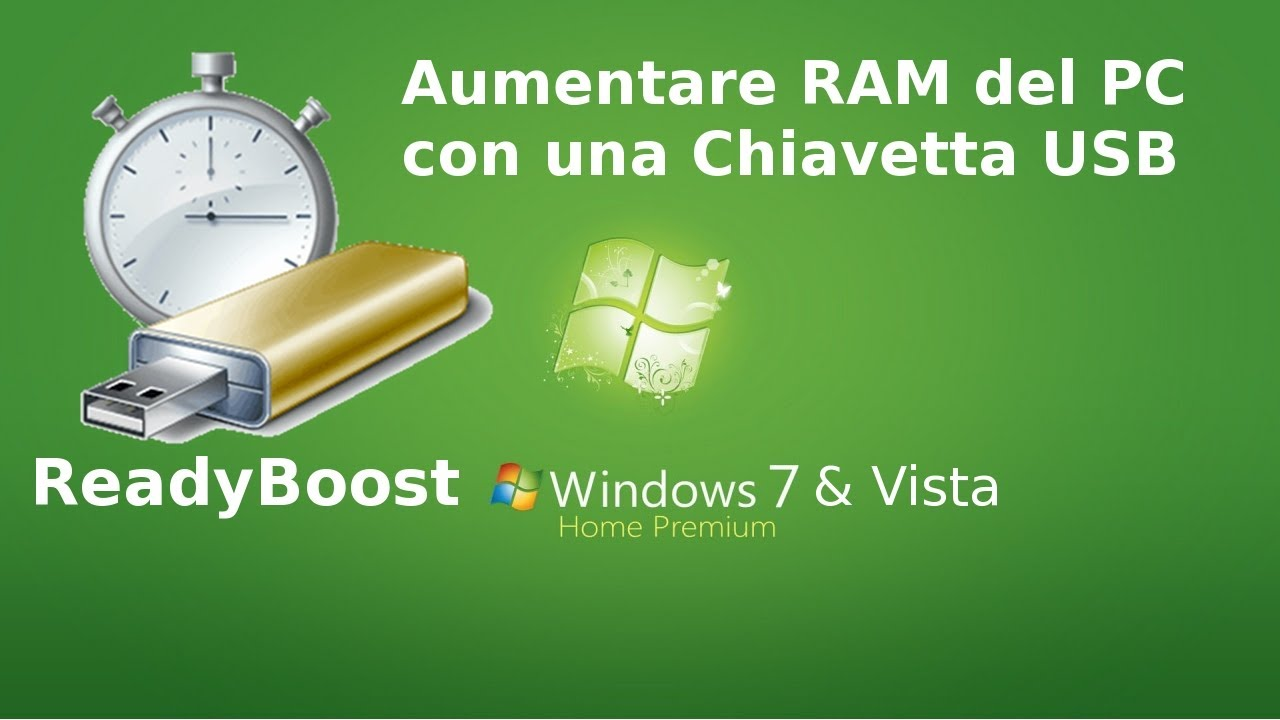 Aumentare ram del pc con una chiavetta usb windows vista for Radio con chiavetta usb