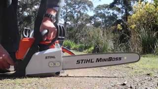 Stihl MS 180 Review and starting technique