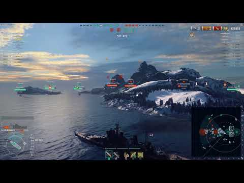 World of Warships - Monarch Sinking Full Health Yamato (124k Damage Dealt)