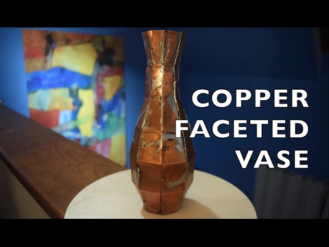 Copper faceted vase - sculpture experiment by residentmaker
