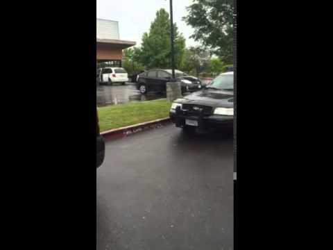 Sacramento police fire lane parked