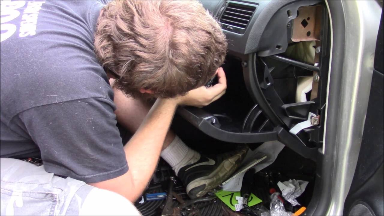 How to Change and Upgrade an MK4 Volkswagen Glovebox - YouTube