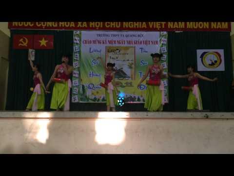 múa trống cơm chào mừng 20-11 sự thành công vang dội