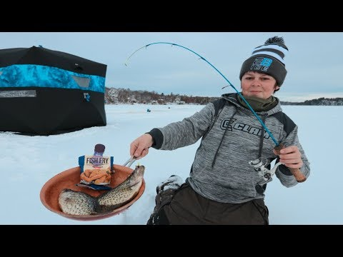 How I Cook Fish While Ice Fishing (CATCH N' COOK)