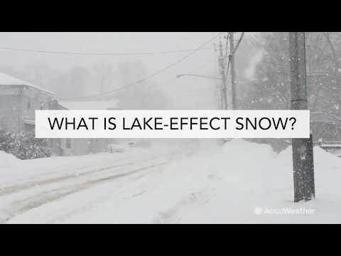 What is lake-effect snow and how does it form?