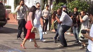 Kim Kardashian Causes Chaos In Hip-Hugging Red Skirt  [2014]