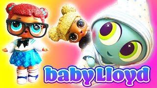 LOL Surprise Dolls Adopt Distroller Neonate Baby Lloyd! Featuring Queen Bee and Sugar Queen!