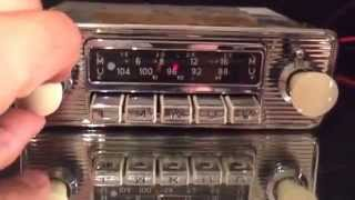 Chromelondon.com BLAUPUNKT DORTMUND DELUXE VINTAGE CAR RADIO 6v 12v +/- SWITCHABLE WITH MP3