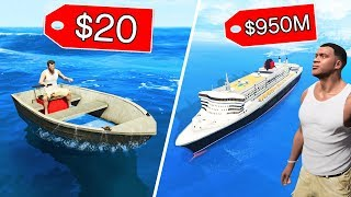 GTA 5 - $20 BOAT vs $950,000,000 BOAT!