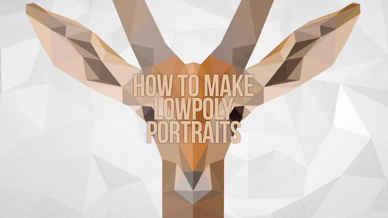 How To Make A Lowpoly Portrait  Photoshop