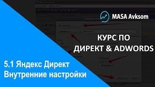 5.1 Внутрішня налаштування кампаній в Яндекс Директе