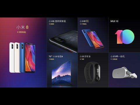 Xiaomi Mi 8, Mi 8 SE ve diğer yeni...