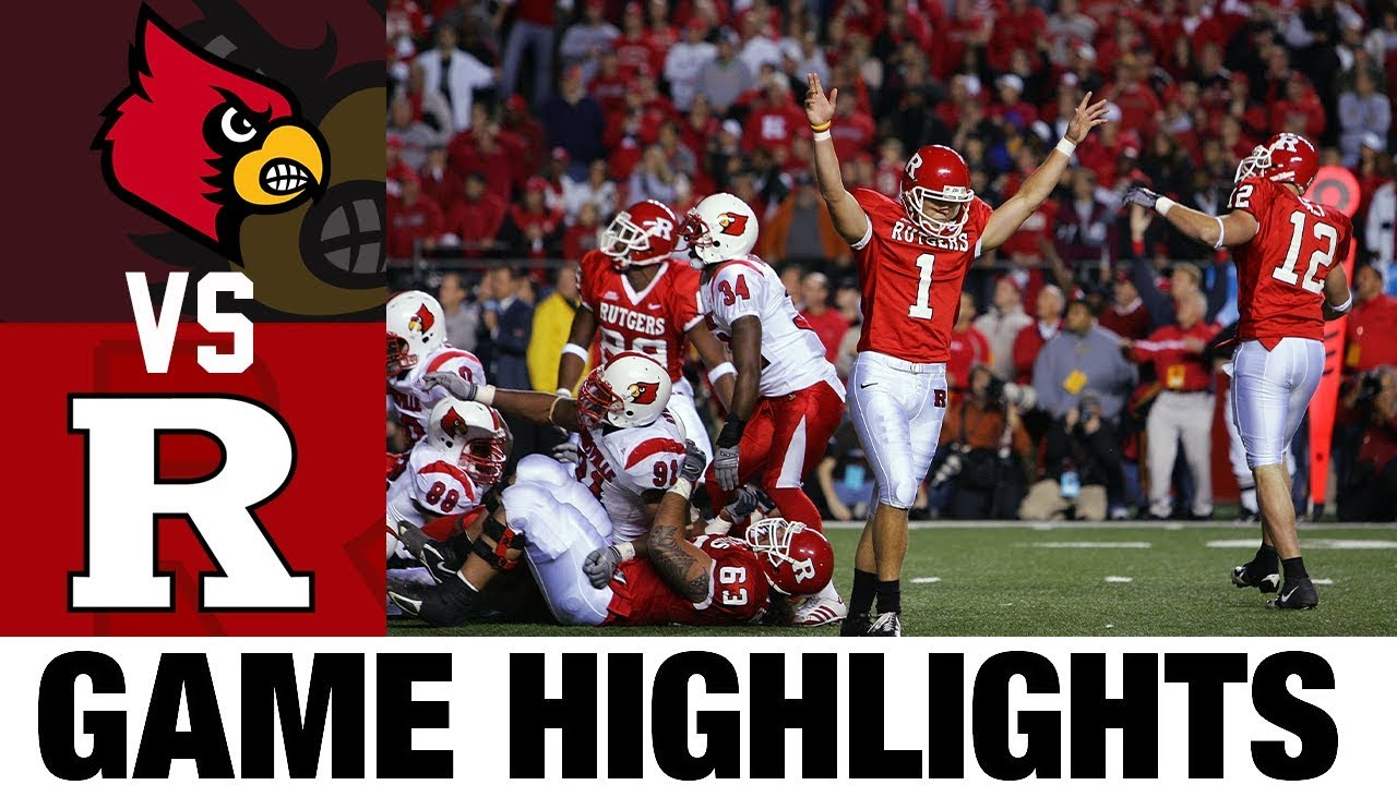 #3 Louisville vs #15 Rutgers | 2006 Football Highlights | 2000's Games of the Decade