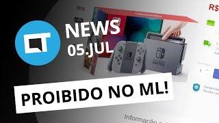 Venda do Nintendo Switch proibida no Brasil; Nasa vai bater nave espacial em asteroide e+ [CT News]
