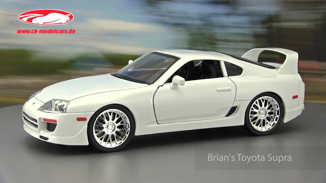 ck-modelcars-video: Brian's white Toyota Supra Fast and Furious ...