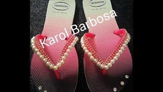 Correia de sandália de pérolas por Carol Barbosa