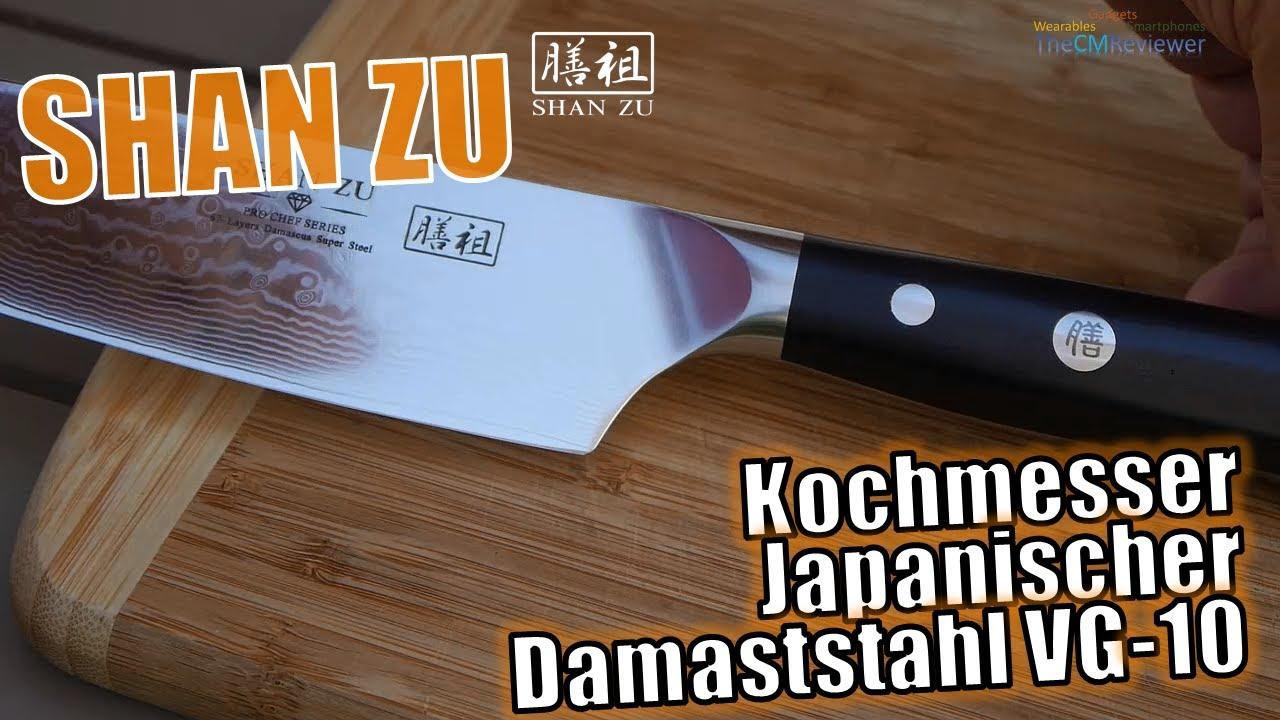 Shan Zu Test Kochmesser Japanischer Damaststahl Vg 10 Mit G10 Griff