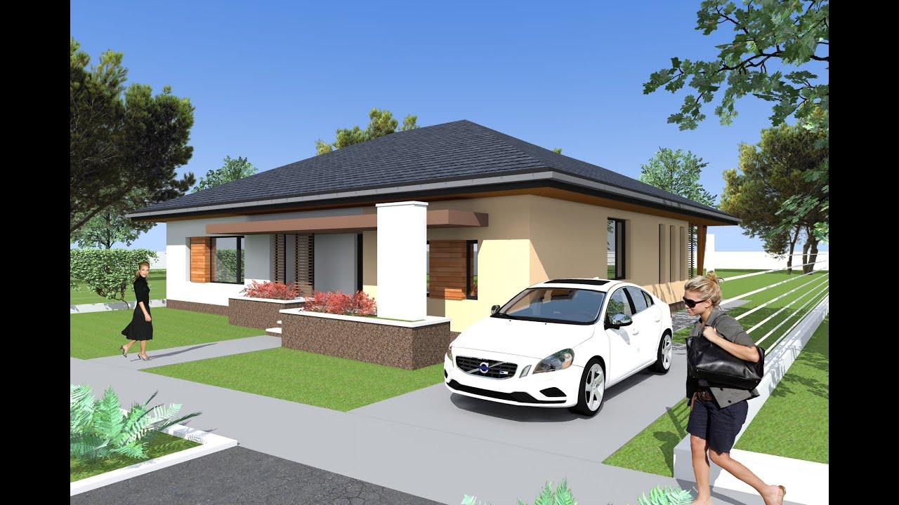 Casa parter sacalaz cu 3 dormitoare 2 bai bucatarie for Proiect casa 2 camere living baie si bucatarie