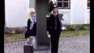 Girl gets scared by a norwegian guard thumbnail