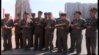 北朝鮮 「万里馬速度で建設されたリョミョン通り (만리마속도로 일떠선 려명거리)」 KCTV 2017/06/18 日本語字幕は追って