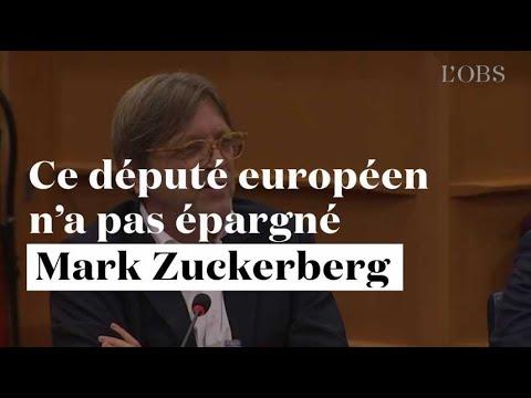 L'eurodéputé Guy Verhofstadt n'a pas épargné Mark Zuckerberg