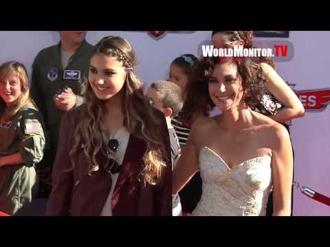Teri Hatcher and Emerson Tenney arrive at Disney's Planes Los Angeles premiere