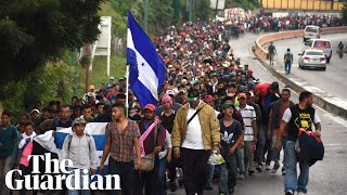 Thousands of Hondurans continue marching towards US