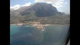 Landing in Palermo Punta Raisi - Atterraggio a Palermo Punta Raisi