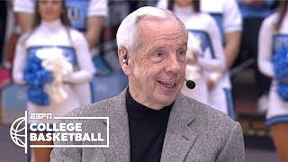Unc tar heels head coach roy williams and seniors luke maye, cameron johnson kenny join college gameday to reflect on their time at ahead of...