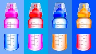 Learn Colors for Toddlers - Baby Bottle Wrong Colors ABC Alphabet Song Nursery Rhymes for Kids