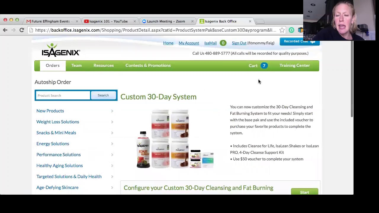 basics on how to use your isagenix backoffice