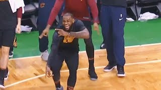 LeBron James LOVES NEW CAVS TEAM, Gets Hyped After Jordan Clarkson 3 Pointer! Cavs Blow Out Celtics!