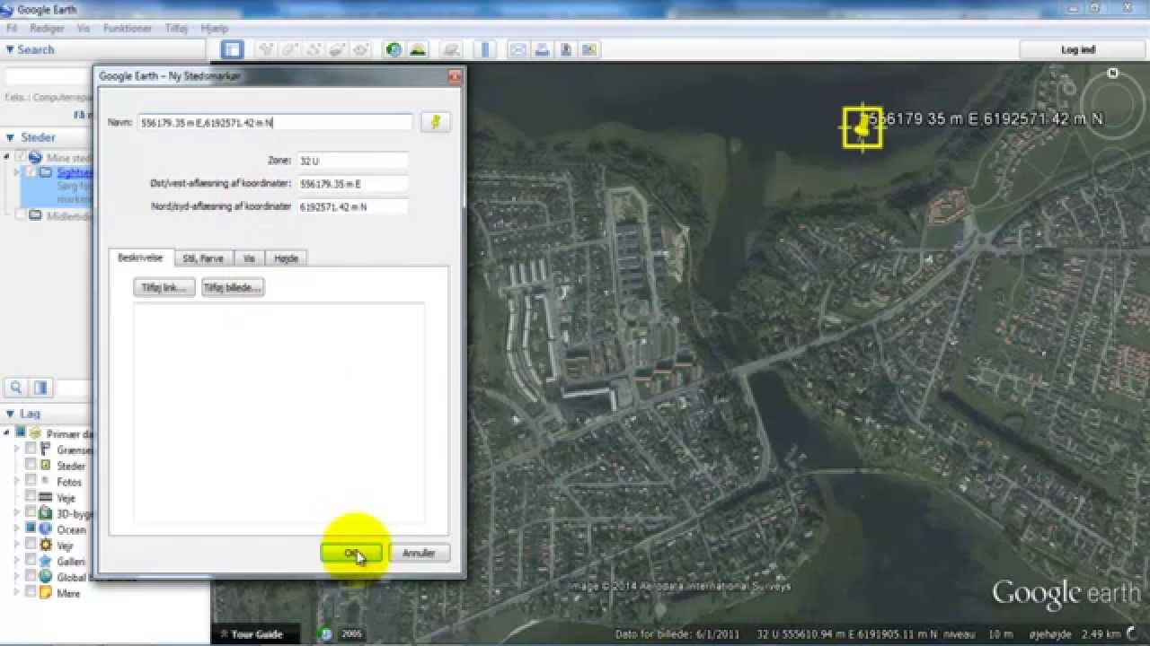 Google Earth_Change the coordinate system to UTM