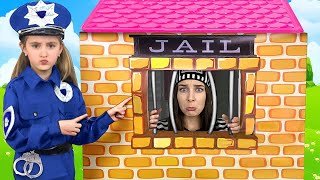 Download Sasha plays as Cop Police and Max go to Jail Playhouse Toy Mp3 and Videos