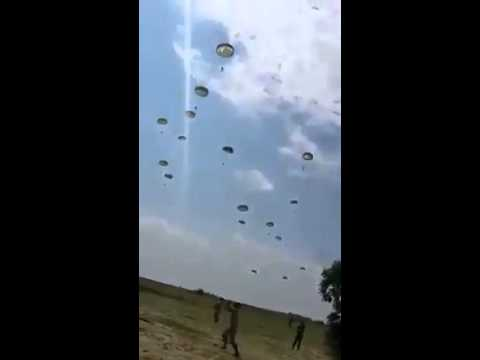 Paratroopers land in Amerli, Iraq.