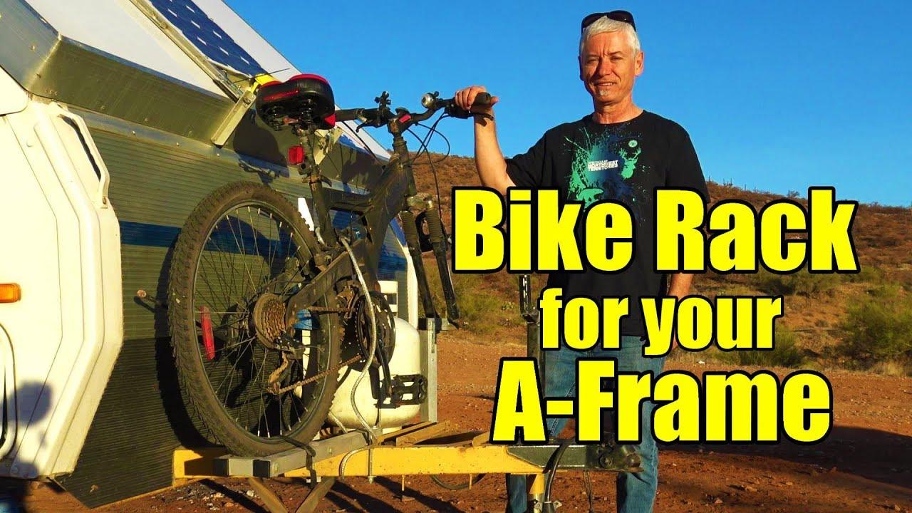Diy Bike Rack For Your Aliner Or A Frame Trailer Youtube