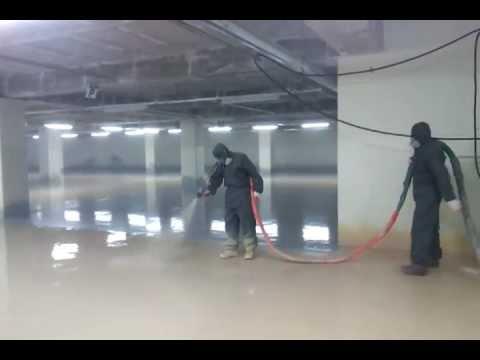 Polyurea Parking Lot Floor Coating Youtube